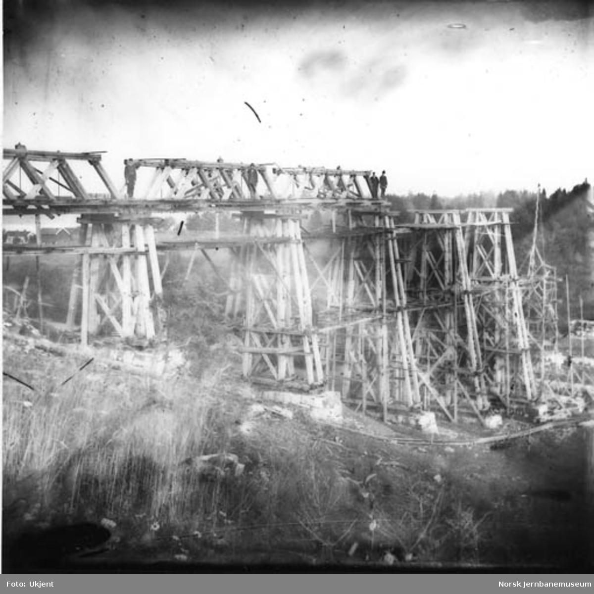 Hvalstad viadukt under bygging