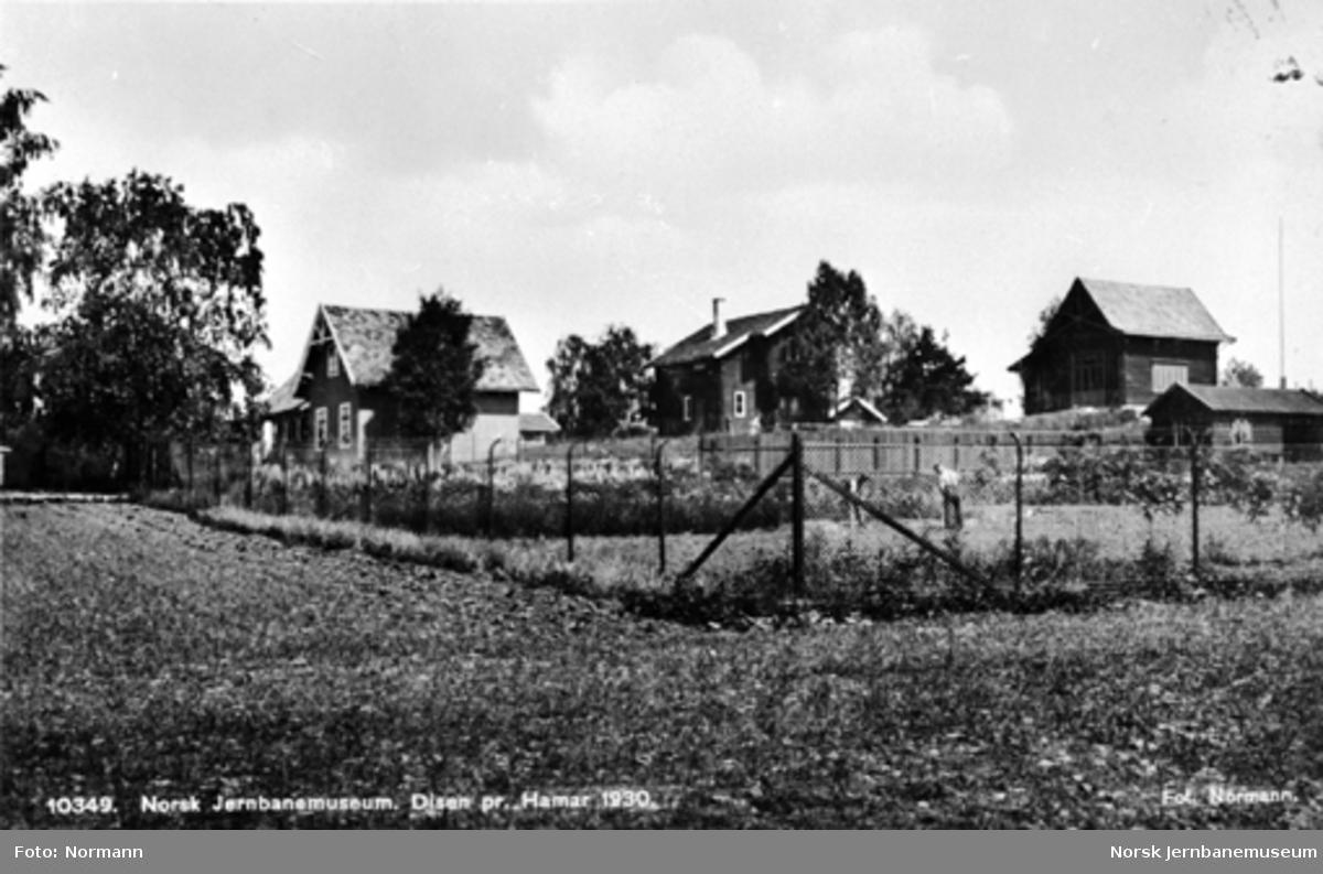 Jernbanemuseet på Disen : Postkort med stasjonbygningene