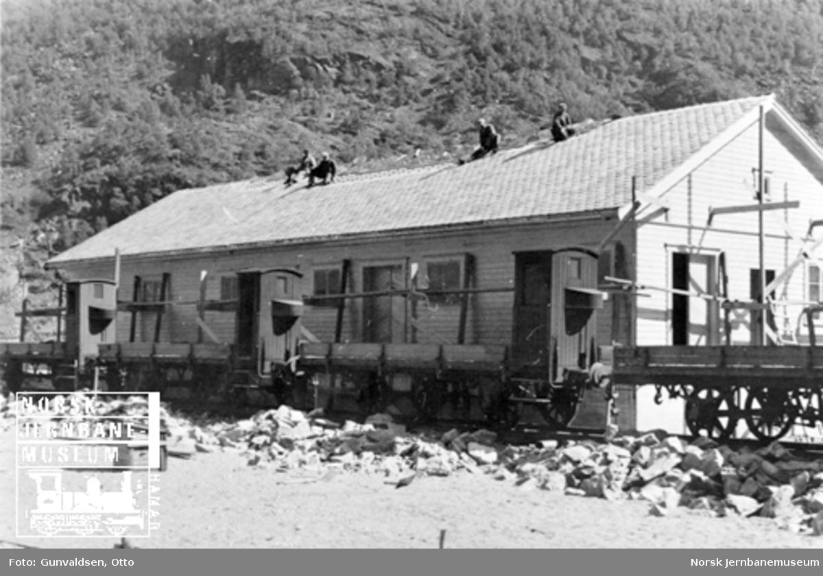 Flåm kaigodshus under bygging