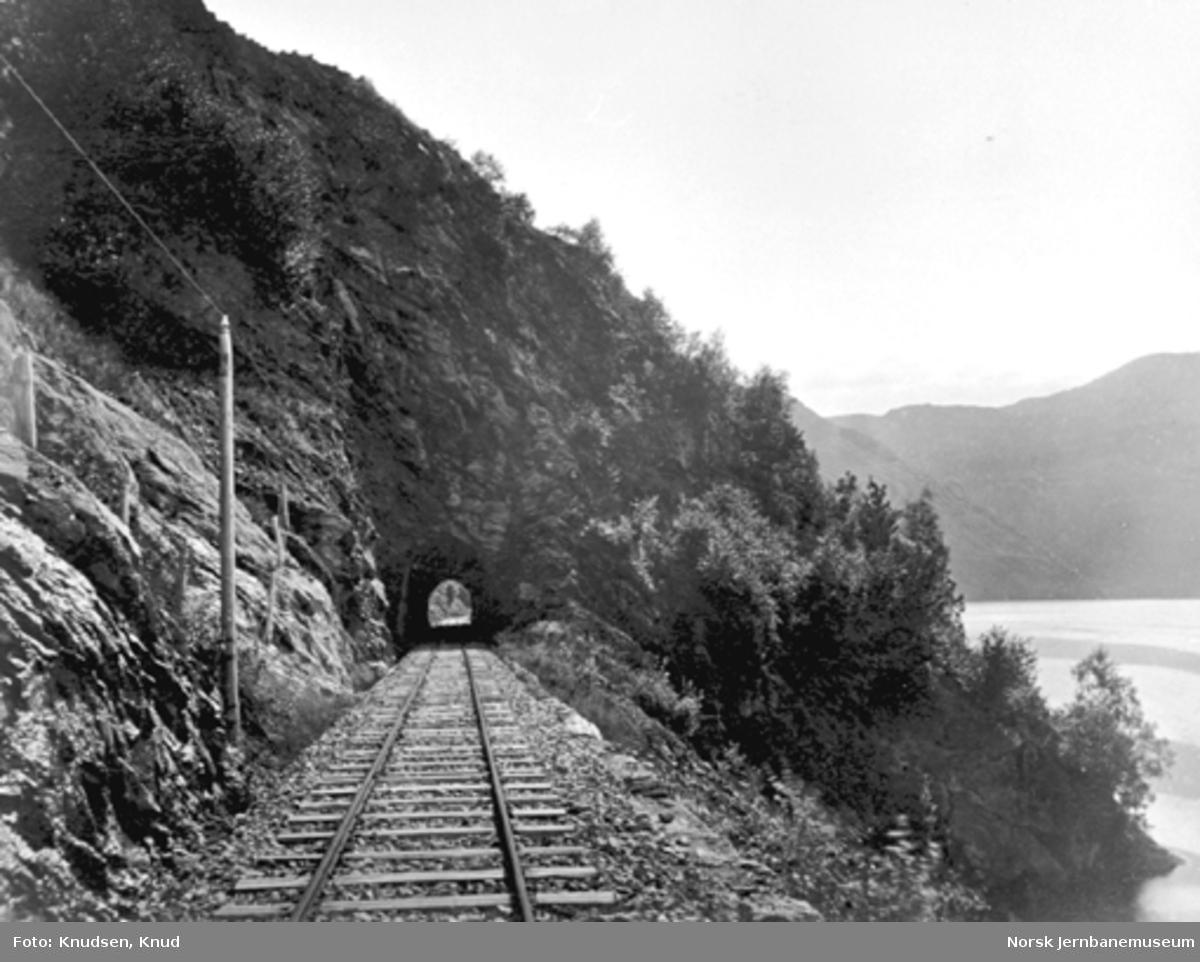 Parti fra Vossebanen; Fossmark tunnel