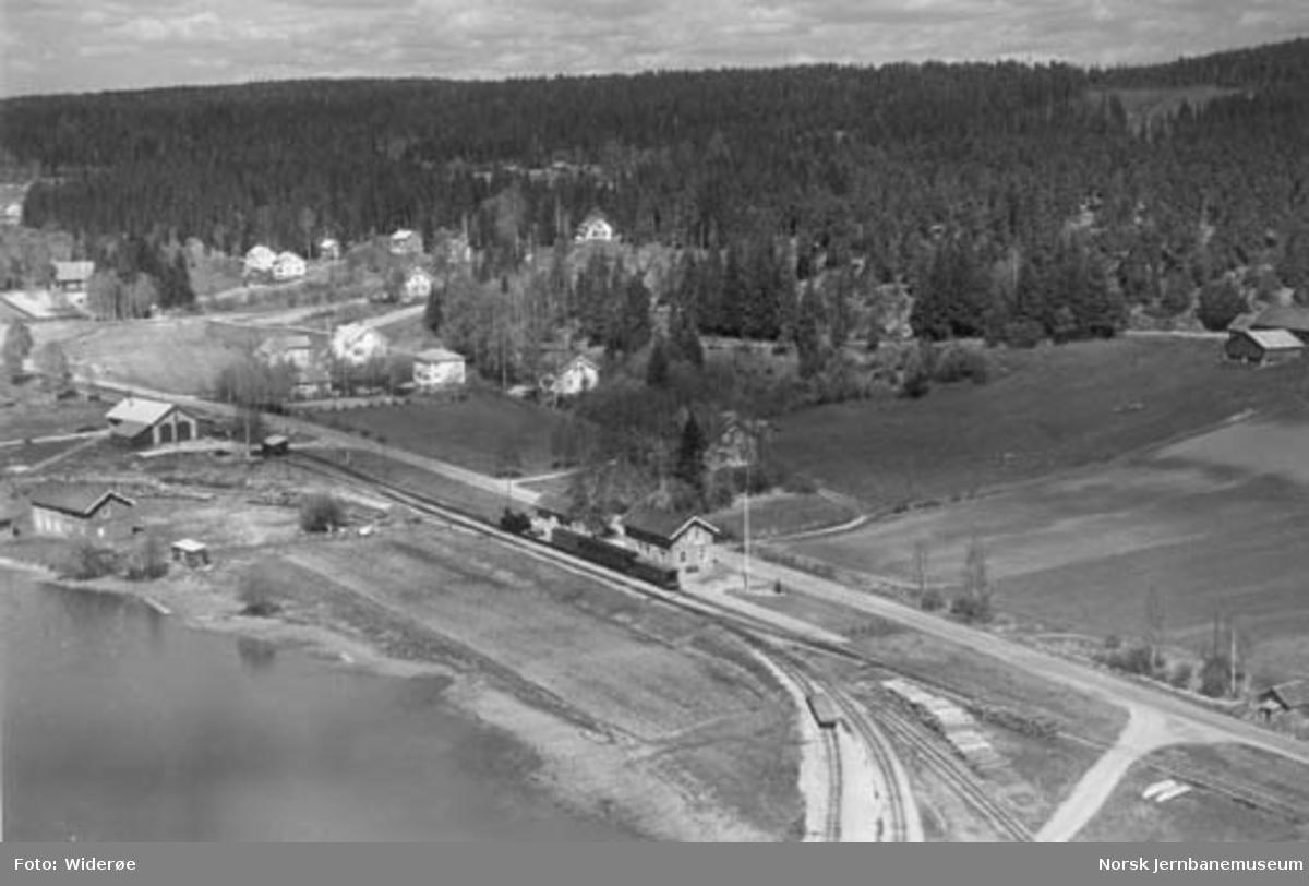 Luftfoto av Skulerud stasjon