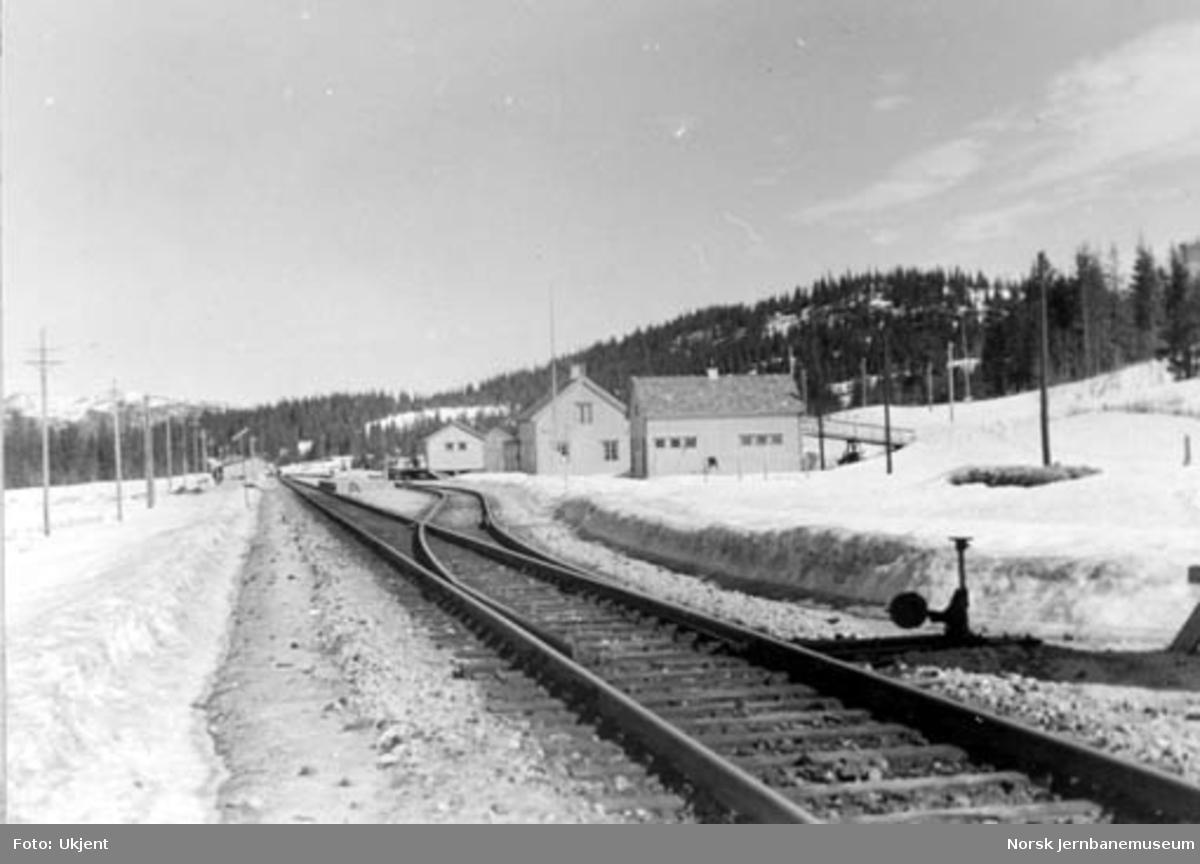 Toven stasjon, sett fra søndre sporveksel