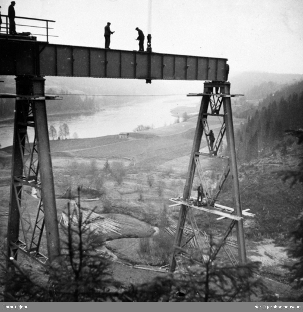 Trolldalen viadukt under bygging : spenn 4
