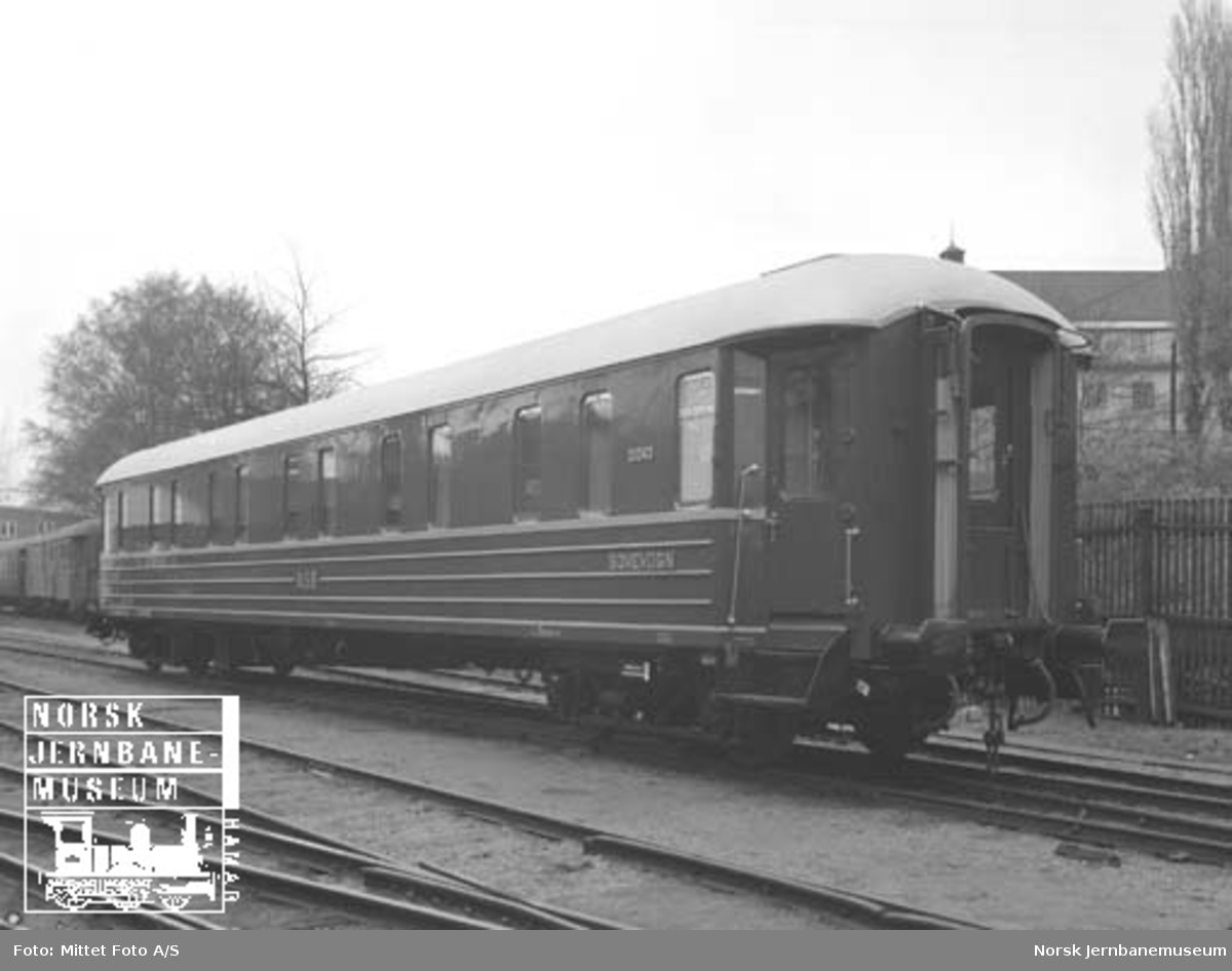 NSB sovevogn litra WLABo1c nr. 21043 som ny