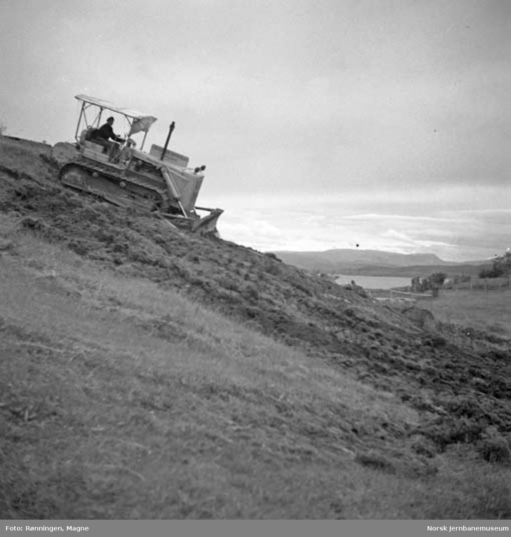Nordlandsbaneanleggets bulldozer i Bodø