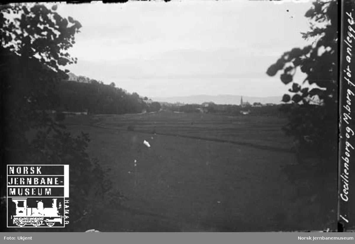 Marienborg og Cecilienborg før anlegget av jernbaneverkstedet