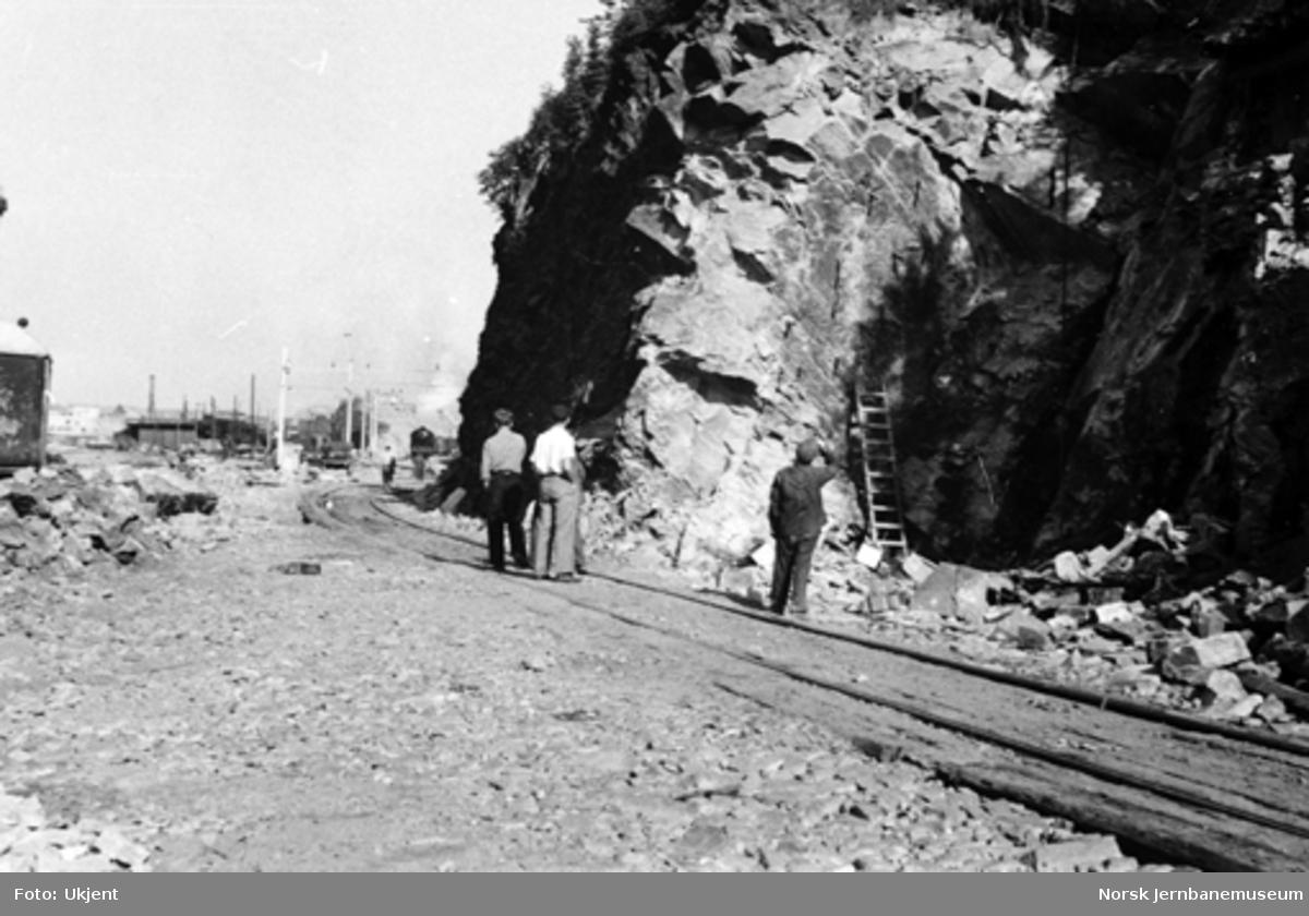 Bergen stasjon : bortsprengt Sejersberget tunnel