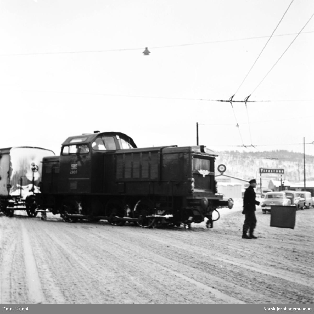 Diesel skiftelokomotiv type Di 2 nr. 805 i kippen til Havnebanen