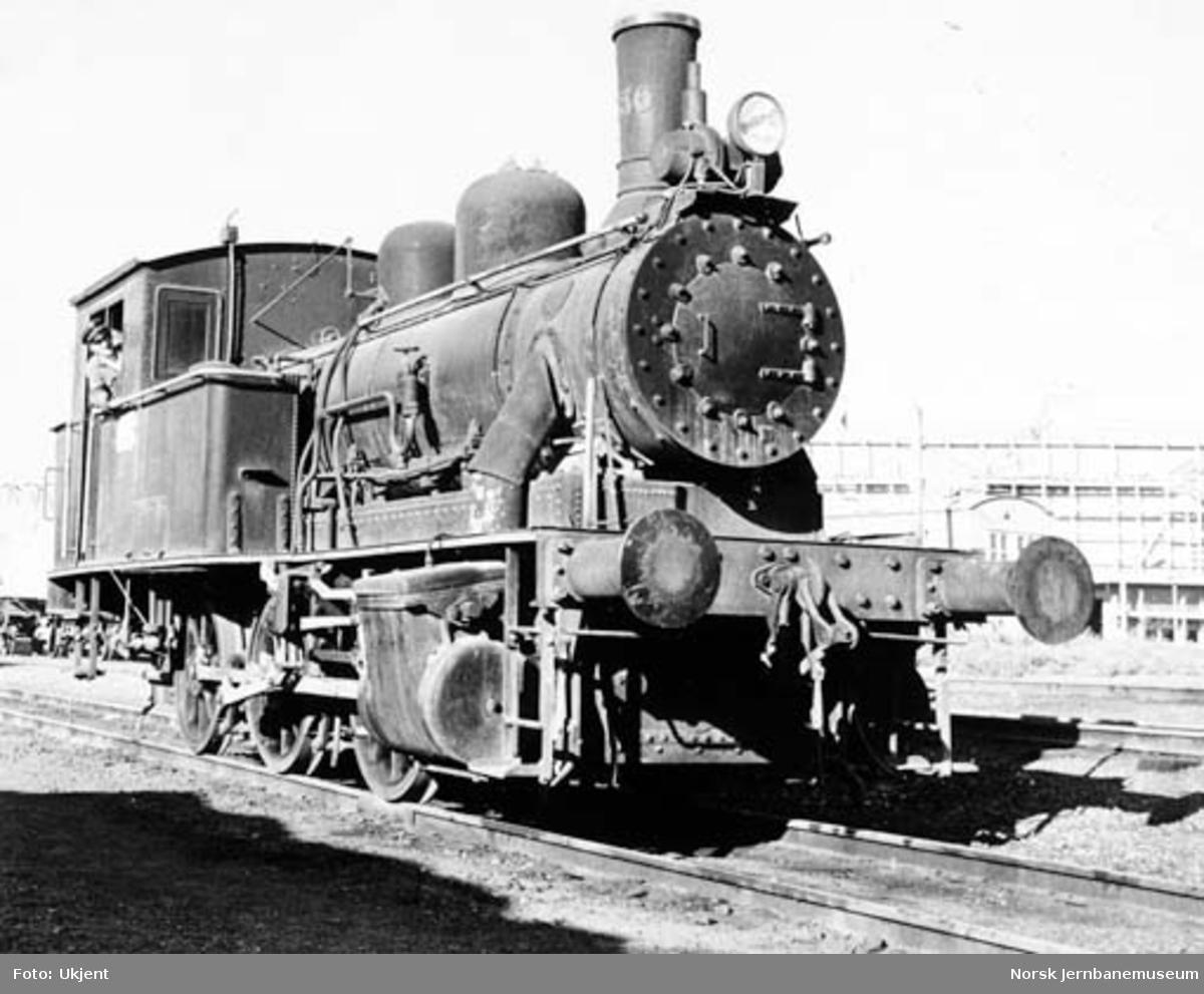 Rjukanbanens damplokomotiv nr. 336 på Herøya
