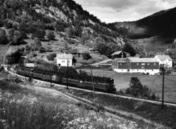 Motorvogntog til Myrdal ved Klyve