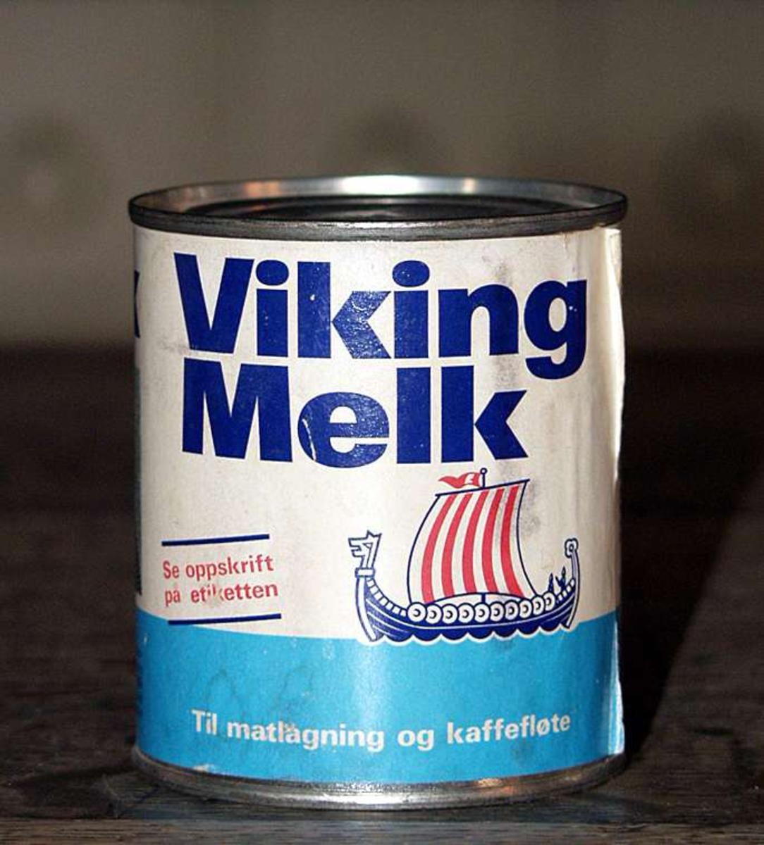 Vikingmelk, tom boks