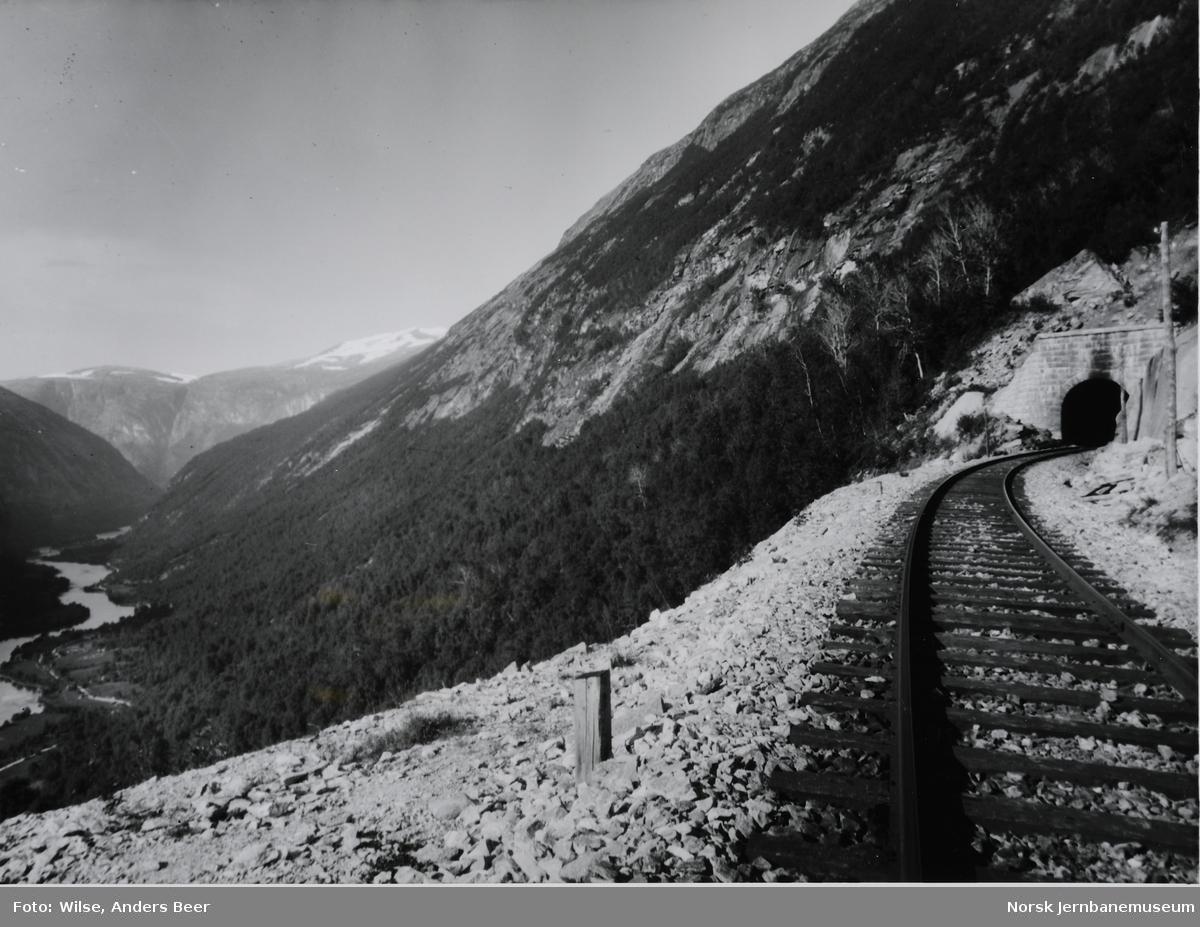Sporet mot Stavem vendetunnel nedre portal