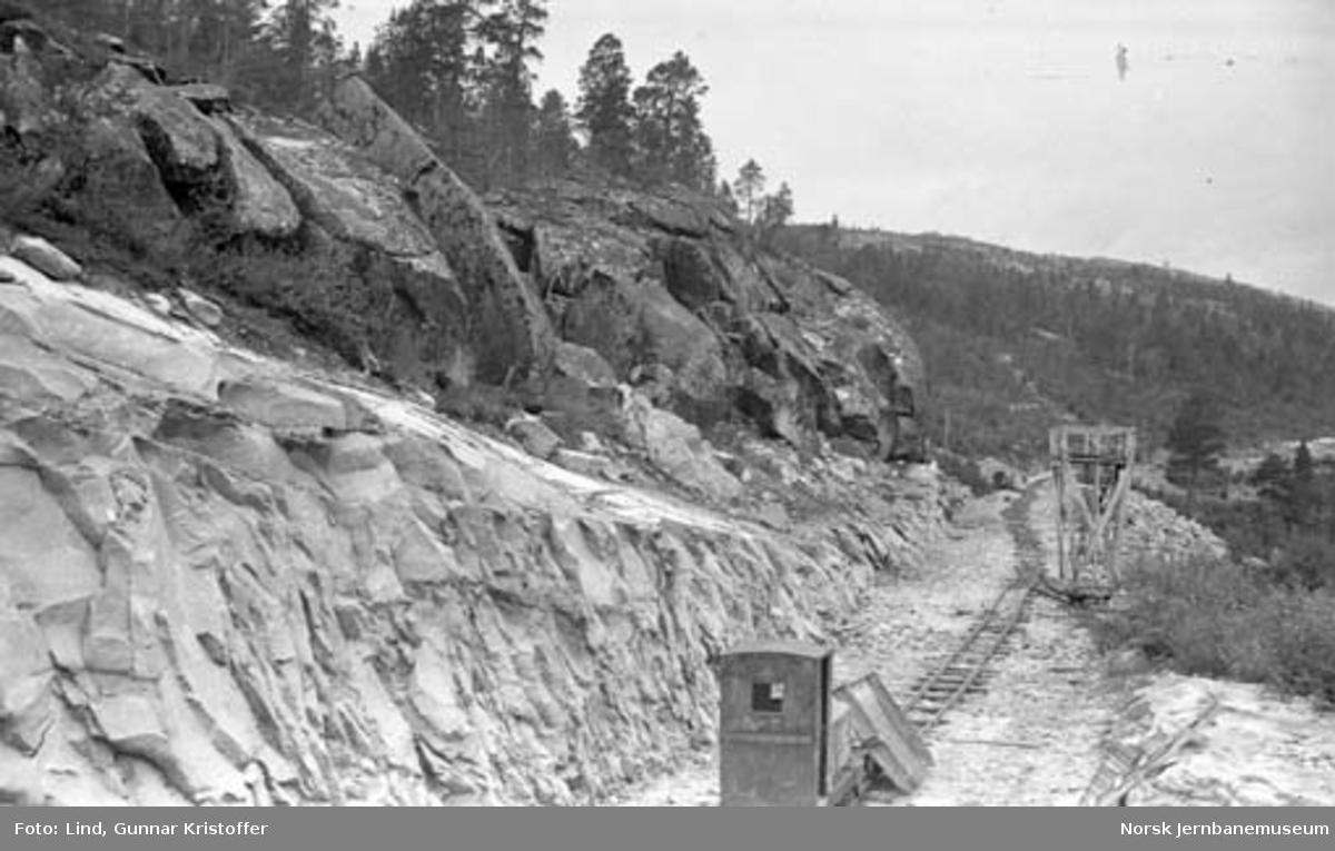 Nordlandsbaneanlegget : nordre forskjæring til Vargholle tunnel