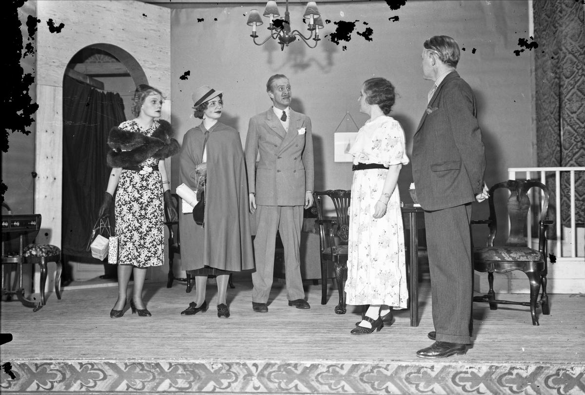 Teaterföreställning, Samfundet S H T, Uppsala 1937