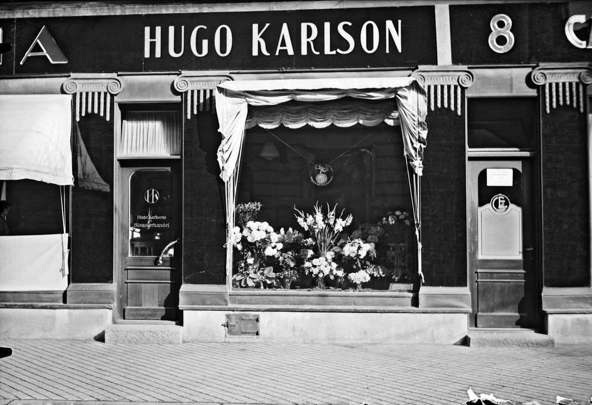 Hugo Karlsons Blomsterhandel, Drottninggatan 8, Uppsala 1933