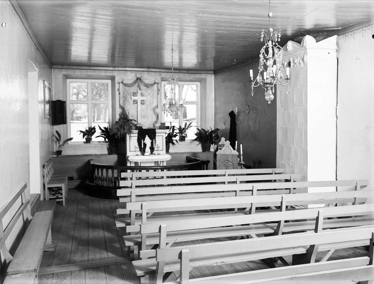 Kapell hörande till Uppsala Ålderdoms- och sjukhem, kvarteret Idun, Svartbäcken, Uppsala 1933