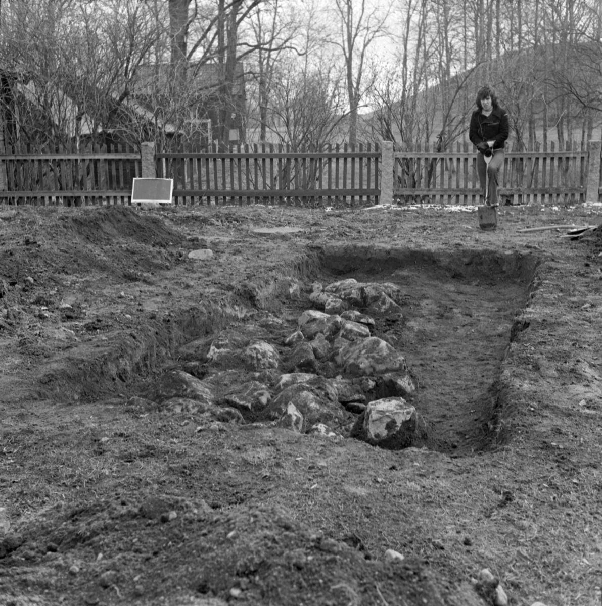 Prästgården, anläggning 4 - Arkeologi Gamla Uppsala 1973