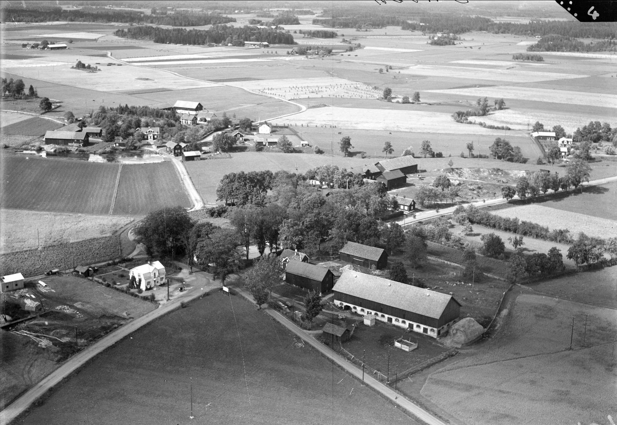 Flygfoto över Husby, Vendels socken, Uppland 1936