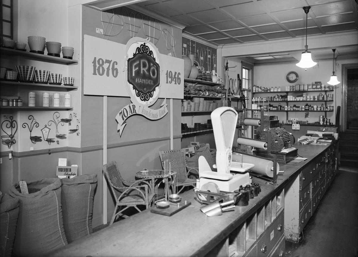 Anderssons Fröhandel, Vaksalagatan 4, Uppsala interiör april 1946