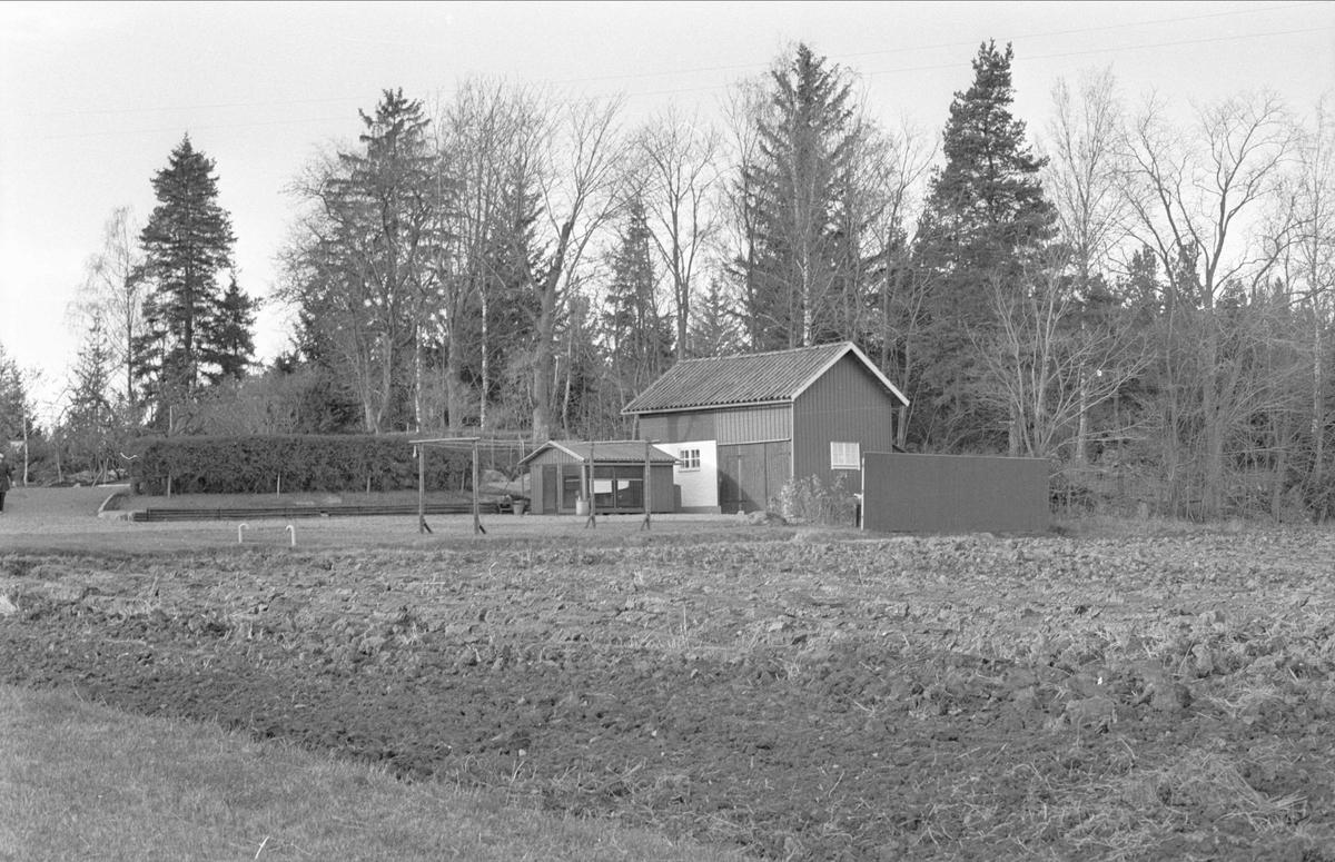 Hundkoja och uthus, Svista, Bälinge socken, Uppland 1978