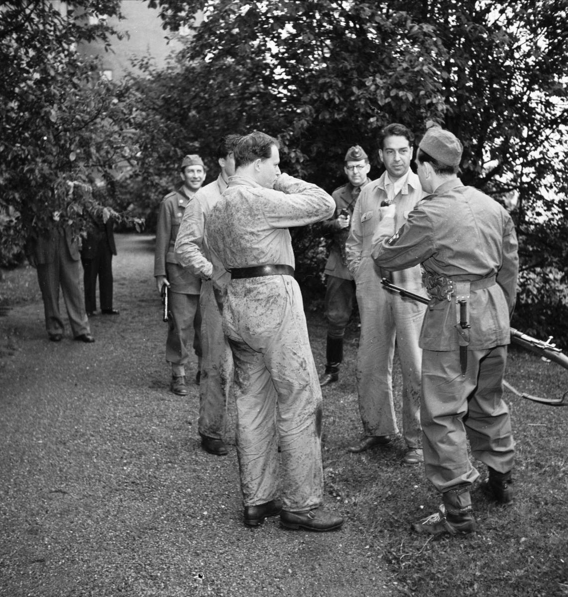 Hemvärnsövning vid Uppsala slott, Uppsala juni 1952