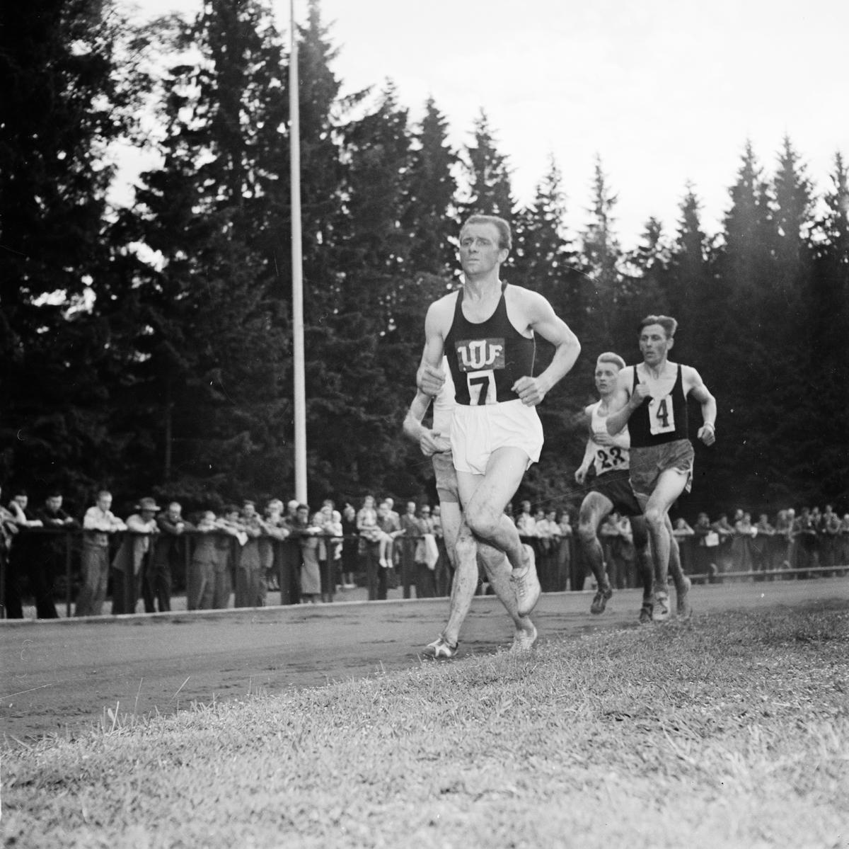 Friidrott, svenska mästerskap 10000 meter, Studenternas Idrottsplats, Uppsala, juni 1952
