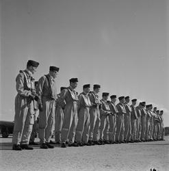 Flyg, kadettexamen, Ärna, Uppland 1954