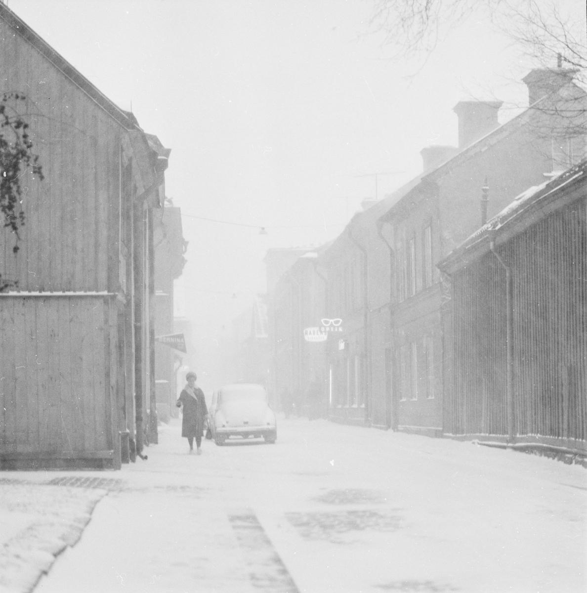 """""""Första riktiga snöovädret"""", Uppsala 9 december 1960"""