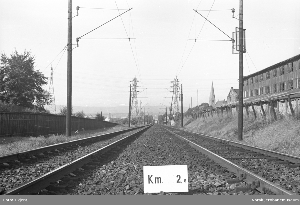 Hovedbanen : linjeføring km 2,8