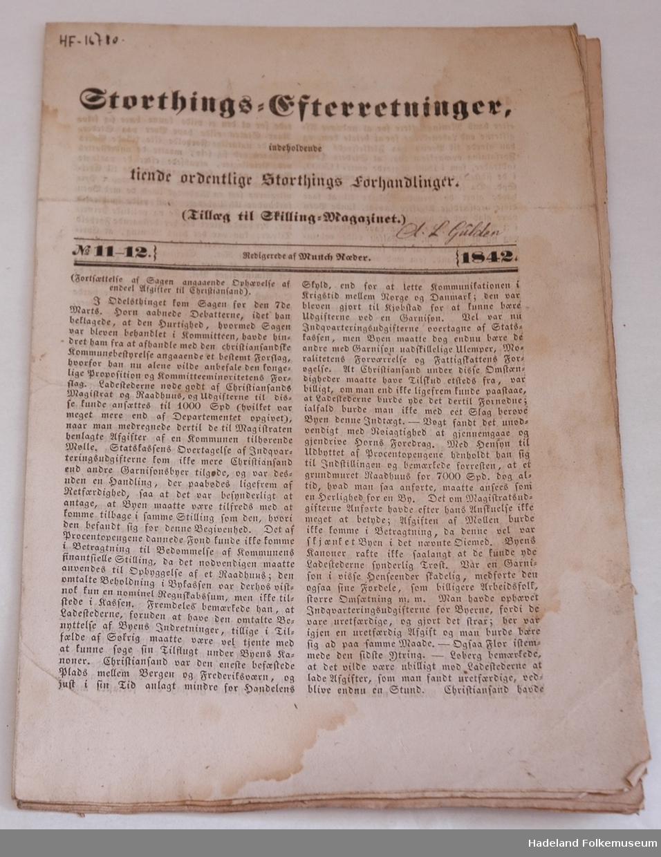 Hefte nr. 11-12, 1842