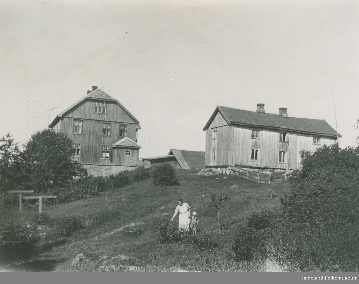 Lindstad, 107/1 i Lunner, våningshus og hage