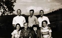 Familien Høyland i Grindheim.