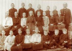 Skoleelever Selandsdalen skole, Grindheim.