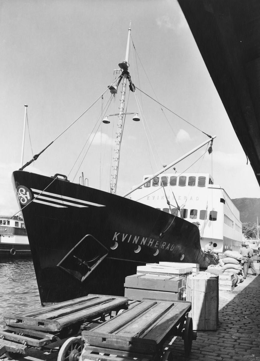 transport båt, eksteriør, Kvinnherad, ved kai