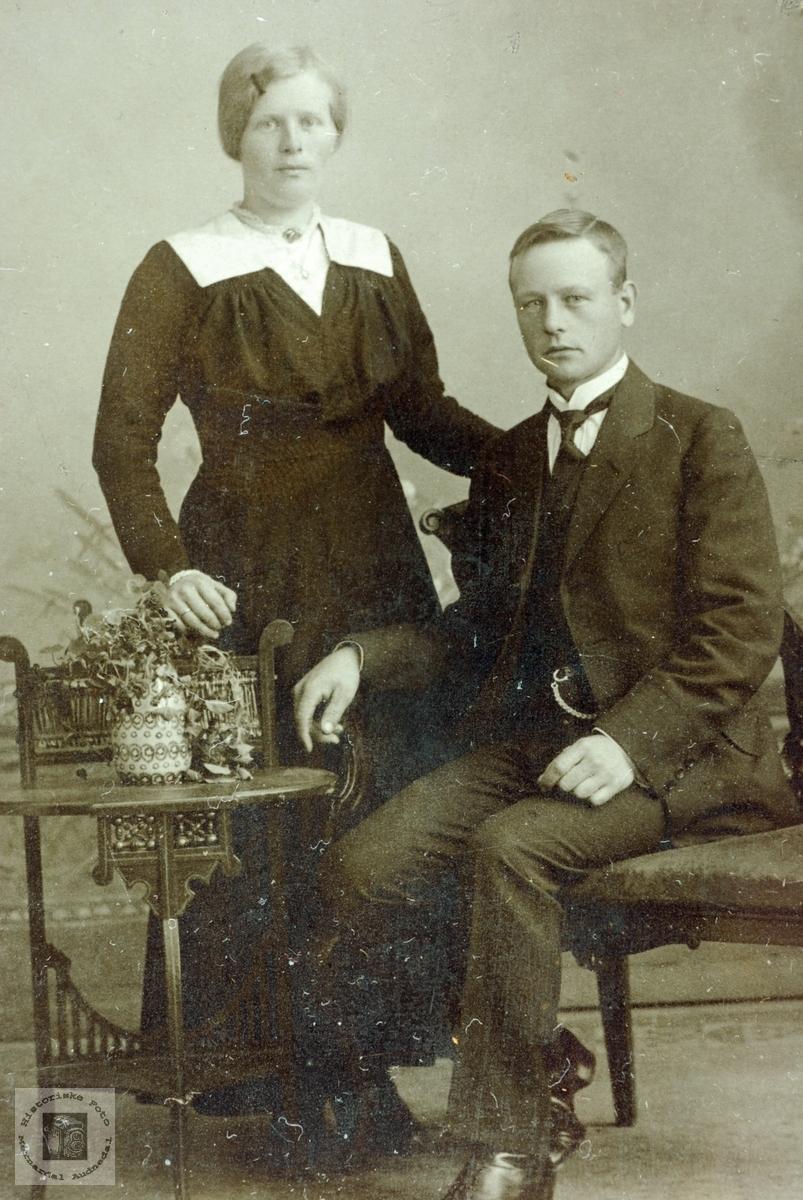 Ekteparet Bransdal i unge år.