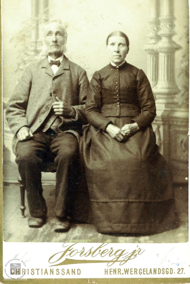 Portrett av ekteparet Torkel og Rakel Flottorp. Grindheim Audnedal.