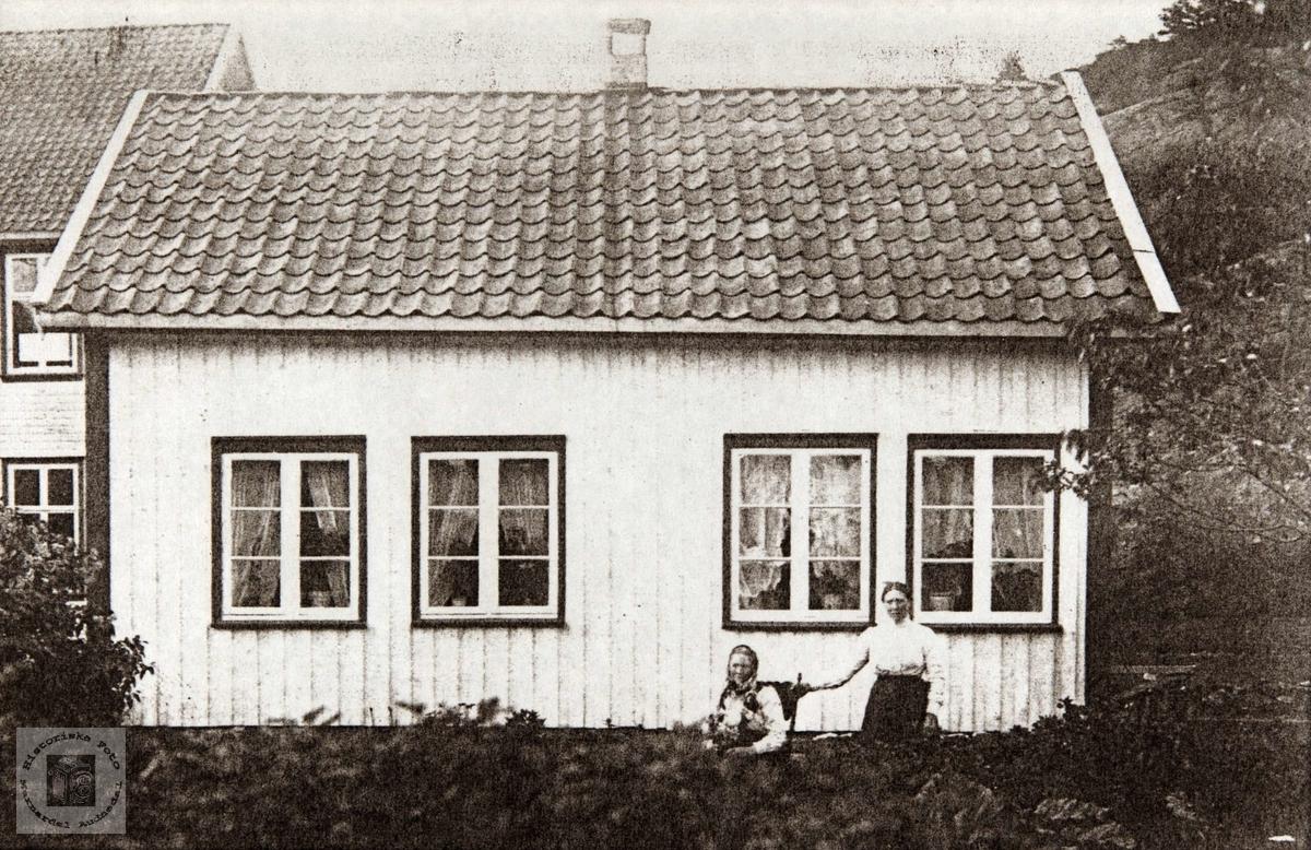 Bilde av huset på bruks nr 15 på Konsmo som er revet.