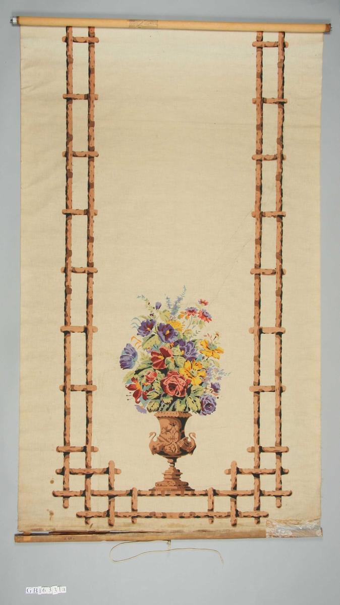 Urne med blomster