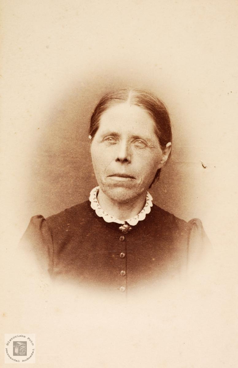 Portrett av Anna Seland. Grindheim.