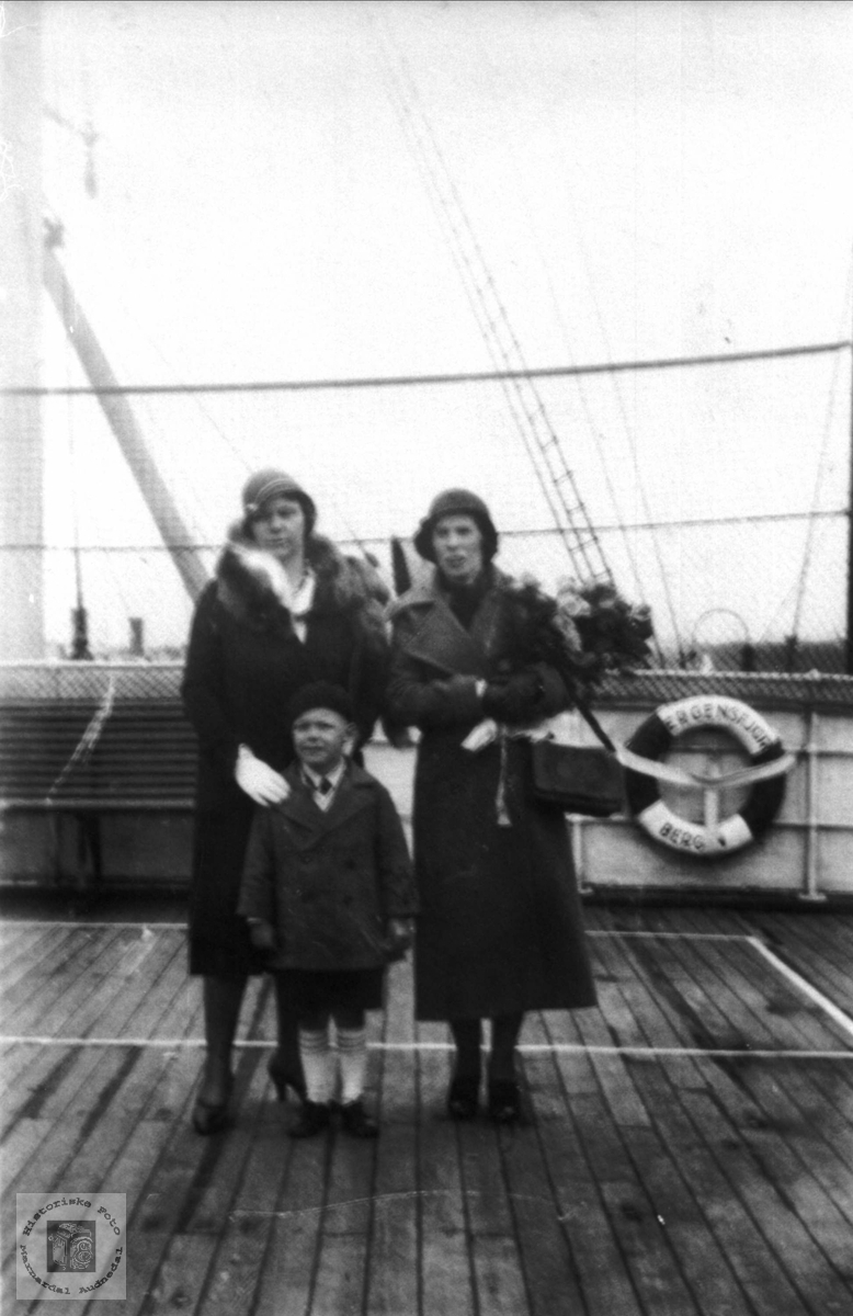 Portrett ombord på Stavangerfjord.