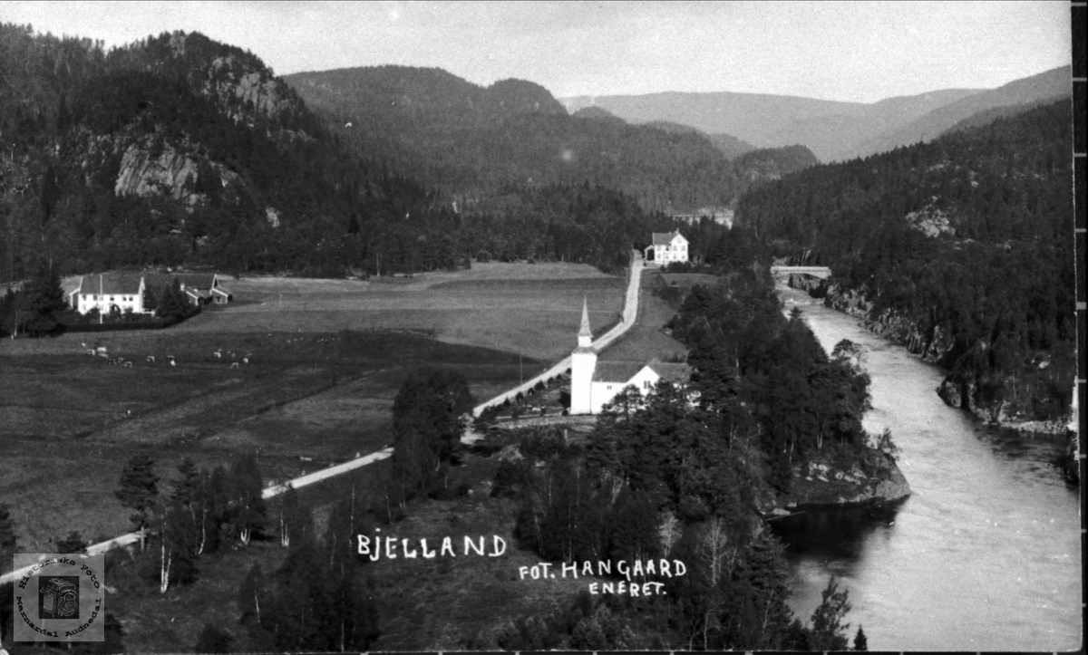 Bjelland Sentrum i tidlige tider.