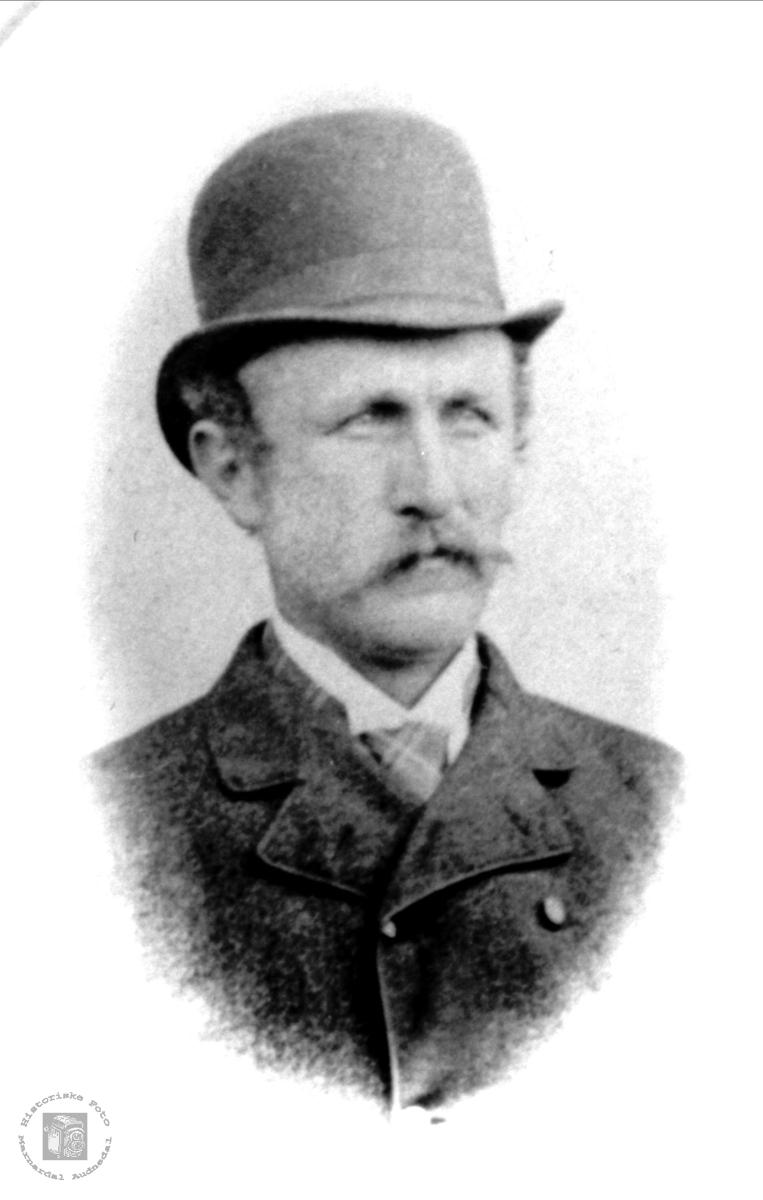 Portrett av Søren Å. Haraldstad, Bjelland.