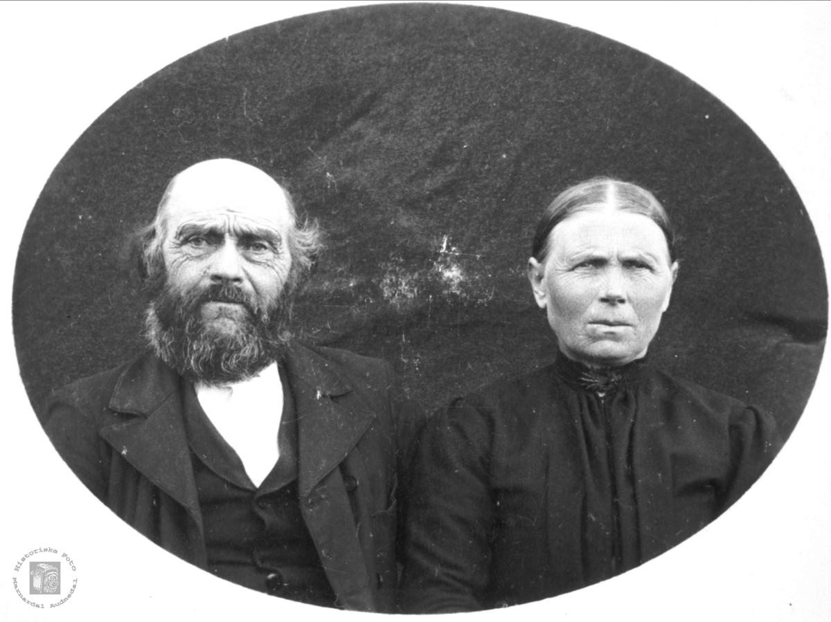 Portrett av ekteparet Kristen og Tarjar Tønnesland, Bjelland.