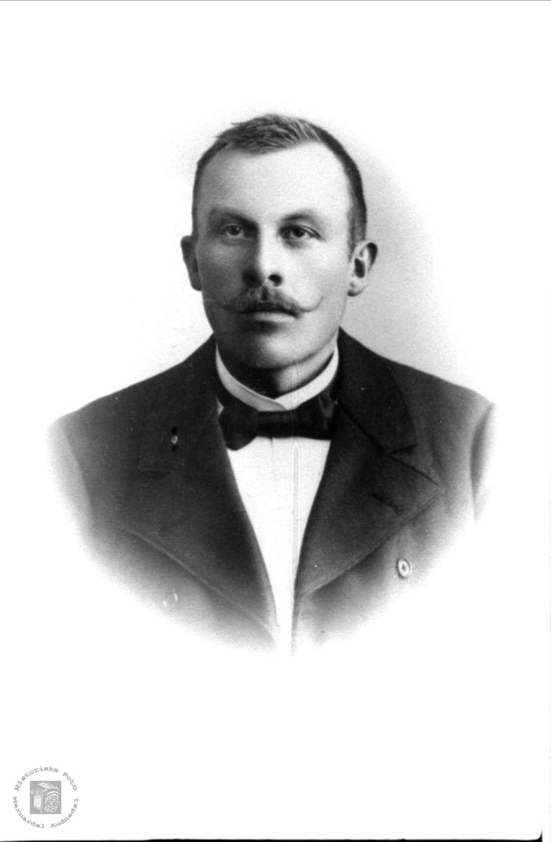 Portrett av Tomas O. Eikeland, Øvrebø.