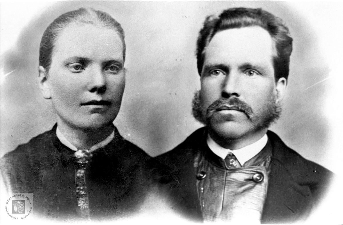 Portrett av Ingeborg og Ola Regevik, Øyslebø.