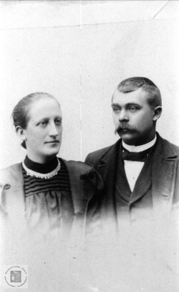 Ekteparet Marie og Ola Spilliing, Sør-Audnedal.