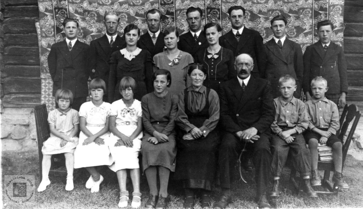 Foreldre og barn Myhre (16 barn).
