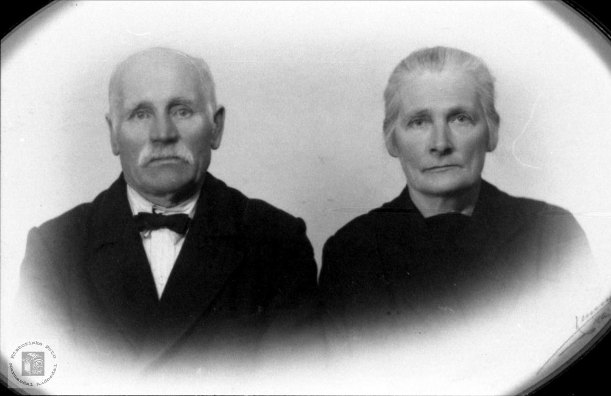 Ekteparet Daniel og Ingeborg Mjåland, Øyslebø og Laudal.