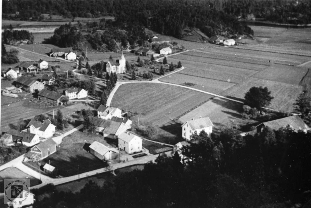 Flyfoto over Øyslebø