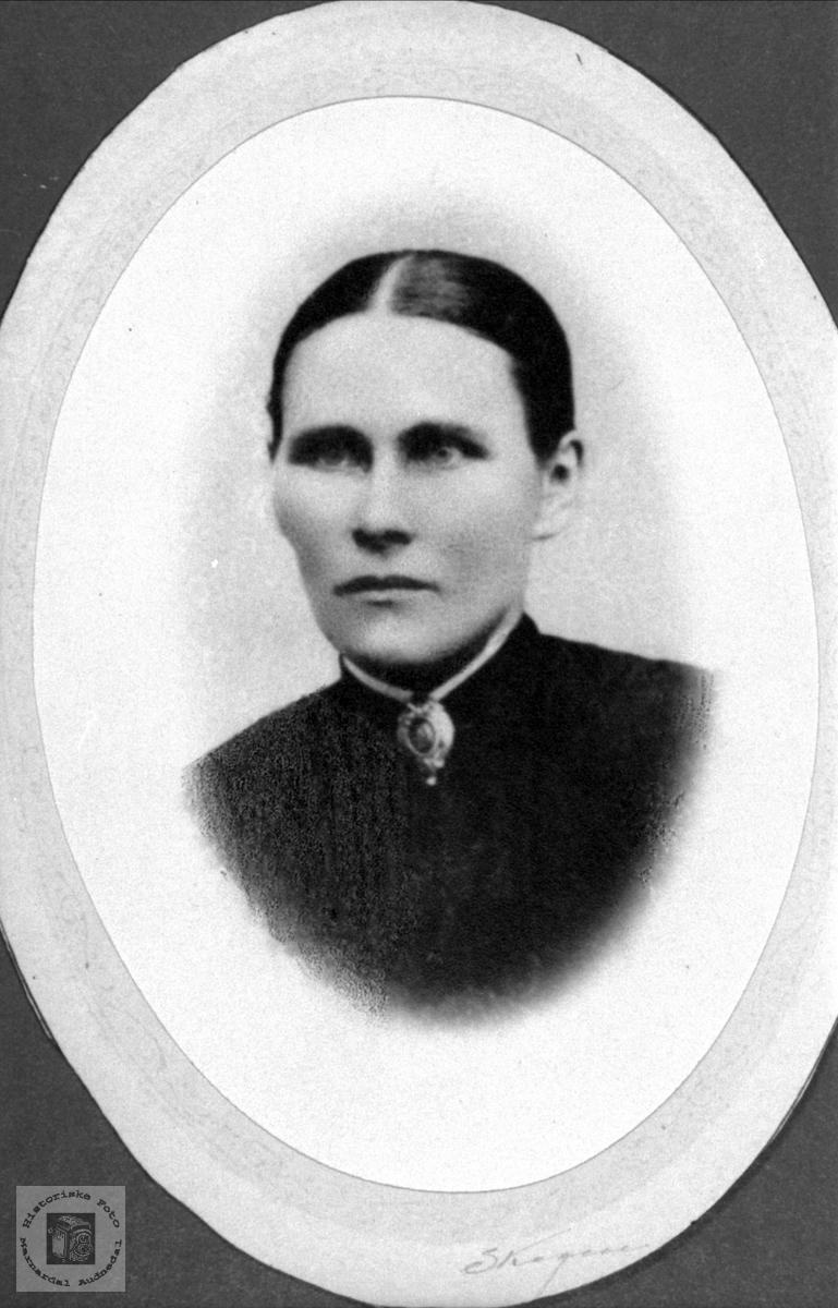Portrett av Olevine Skjævesland